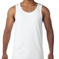 5200 Mens Basic Singlet - White