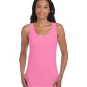 64200L Womens Fitted Tank - Azalea
