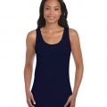 64200L Womens Fitted Tank - Navy