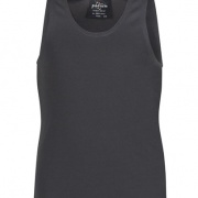 7PS Mens Poly Singlet - Gunmetal
