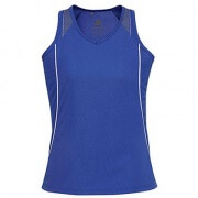 SG407L Womens Razor Singlet - Royal / White