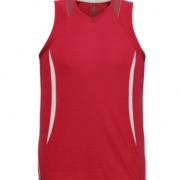 SG407M Mens Razor Singlet - Red / White