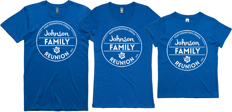 609f94ac7 Special offer for Family Reunion custom t-shirts - Custom Clothing