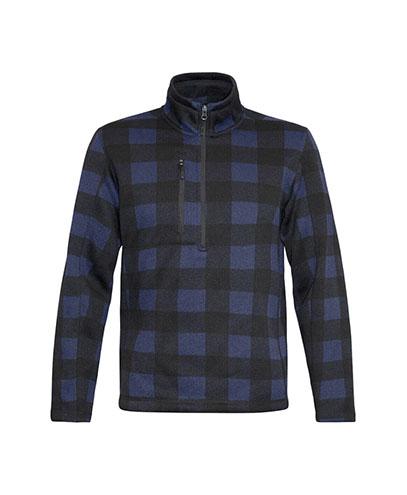 OKF Half Zip Fleece Jacket - Navy