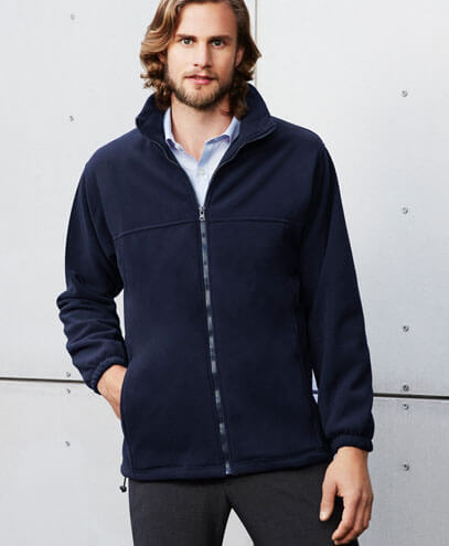 PF630 Mens Plain Micro Fleece Jacket - Front
