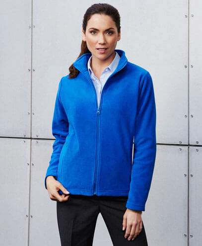 PF631 Womens Plain Micro Fleece Jacket - Front