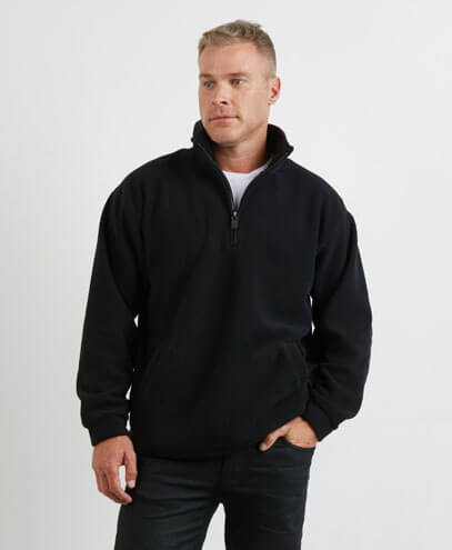 PTN Adults Microfleece Half Zip Jacket - Worn