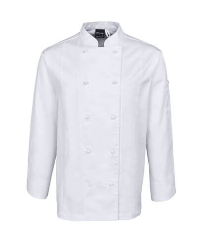 5CVL Vented Chef's Long Sleeve Jacket - White