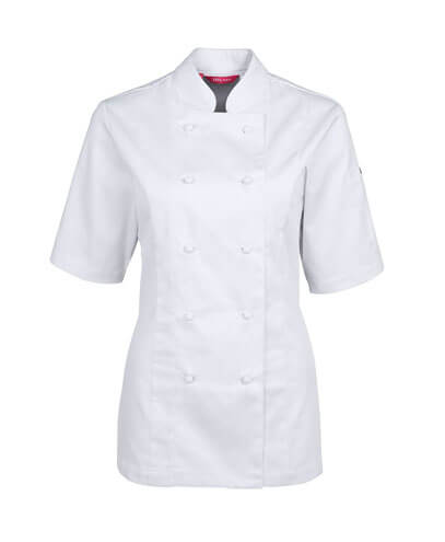 5CVS1 Vented Ladies' Short Sleeve Chef's Jacket - White