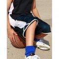 CK1224 Kids Basketball Shorts - Navy/White - Worn by Boy Model