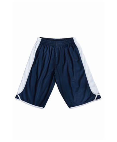 CK1225 Adults Basketball Shorts - Navy/White