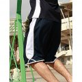CK1225 Adults Basketball Shorts - Navy/White - Worn by Male Model