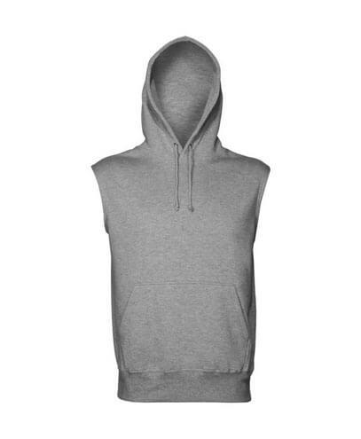 SLH Sleeveless Pullover Hoodie - Grey Marle