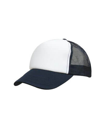 3822 Kids Trucker Cap - Navy/White