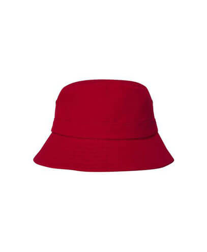 4133 Youth Brushed Cotton Bucket Hat - Red