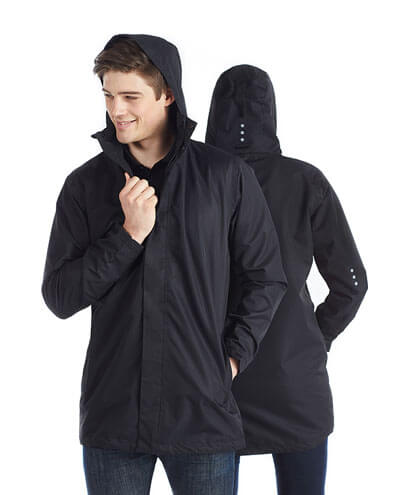 JK25 Adults Waterproof Raincoat - Worn by Male Model