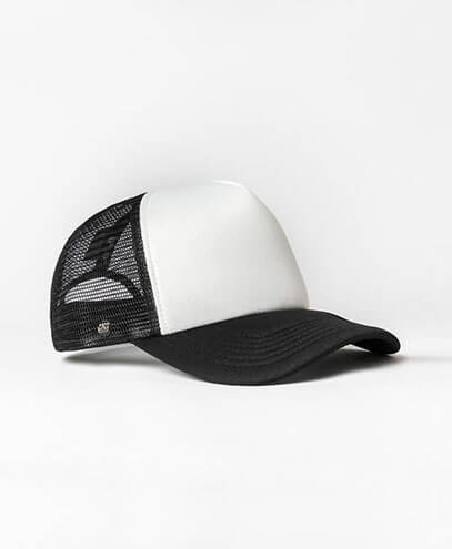 KU15502 Kids UFlex Snap Back Trucker Cap - Black/White