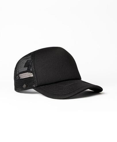KU15502 Kids UFlex Snap Back Trucker Cap - Black