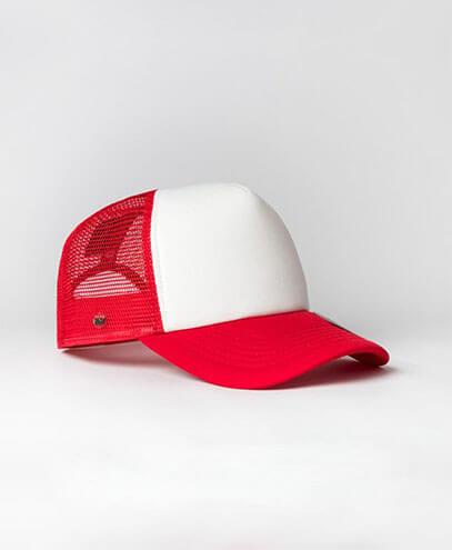 KU15502 Kids UFlex Snap Back Trucker Cap - Red/White