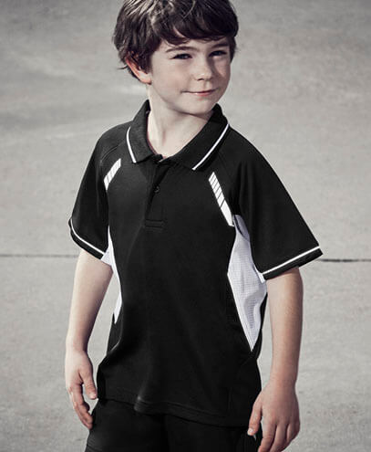 P700KS Kids Renegade Quick Dry Polo - Worn by Boy Model