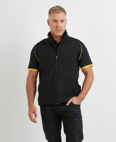 SVA Mens 3K Softshell Vest - Worn by Male Model