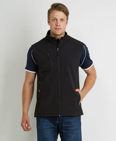 VSM Mens PRO2 Softshell Vest - Black