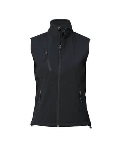 VSW Womens PRO2 Softshell Vest - Black