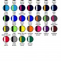 1111 Mens Tasman Singlet - Colour Chart