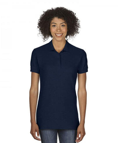 82800L Womens Polo - Navy on Female Model