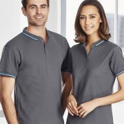 P226MS P226LS Mens & Womens Jet Polo - Steel Grey/Cyan on Male and Female Models