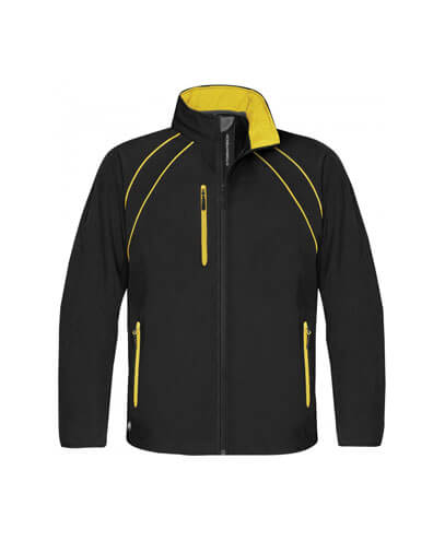 CXJ-3 Mens Crew Softshell Jacket - Black/Sundance