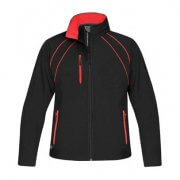 CXJ-3W Womens Crew Softshell Jacket - Black/Red