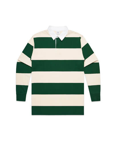 5416 Rugby Stripe Jersey - Natural/Forest