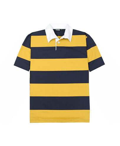 SS-RJS Short Sleeved Striped Rugby Jersey - Navy/Gold