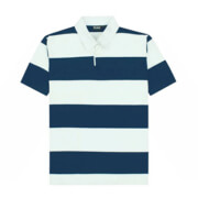 SS-RJS Short Sleeved Striped Rugby Jersey - Navy/White