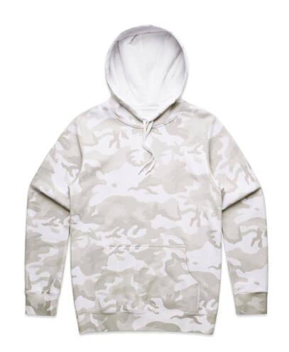 5102 Mens Stencil Hoodie - White Camo