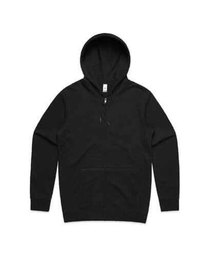 5204 Adults Index Zip Hood - Black