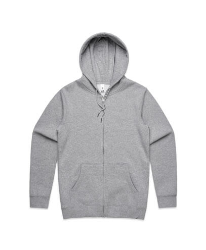 5204 Adults Index Zip Hood - Grey Marle