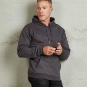 TMP Mens 360 Pullover Hoodie - Dark Grey on Male Model