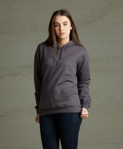 TWP Womens 360 Pullover Hoodie - Dark Grey on Female Model