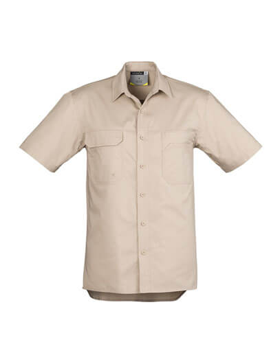 ZW120 Adults Light Weight Work Shirt - Sand