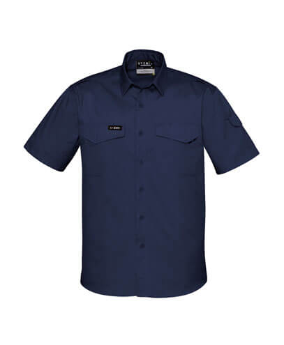 ZW405 Adults Rugged Cooling Work Shirt - Navy