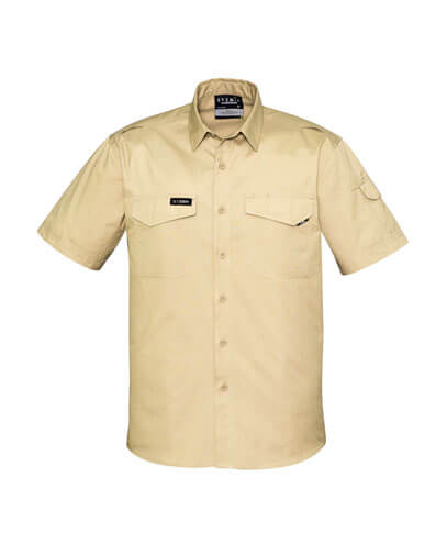 ZW405 Adults Rugged Cooling Work Shirt - Sand