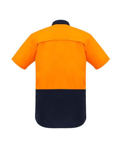 ZW815 Adults Hi Viz Spliced Shirt - Back