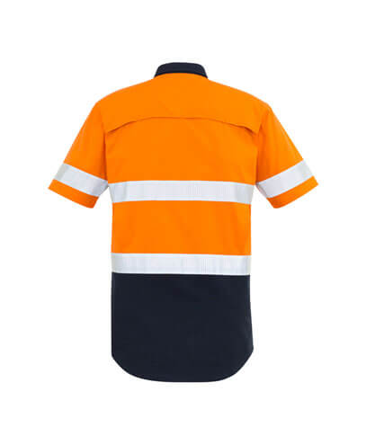 ZW835 Adults Taped Hi Viz Spliced Shirt - Back