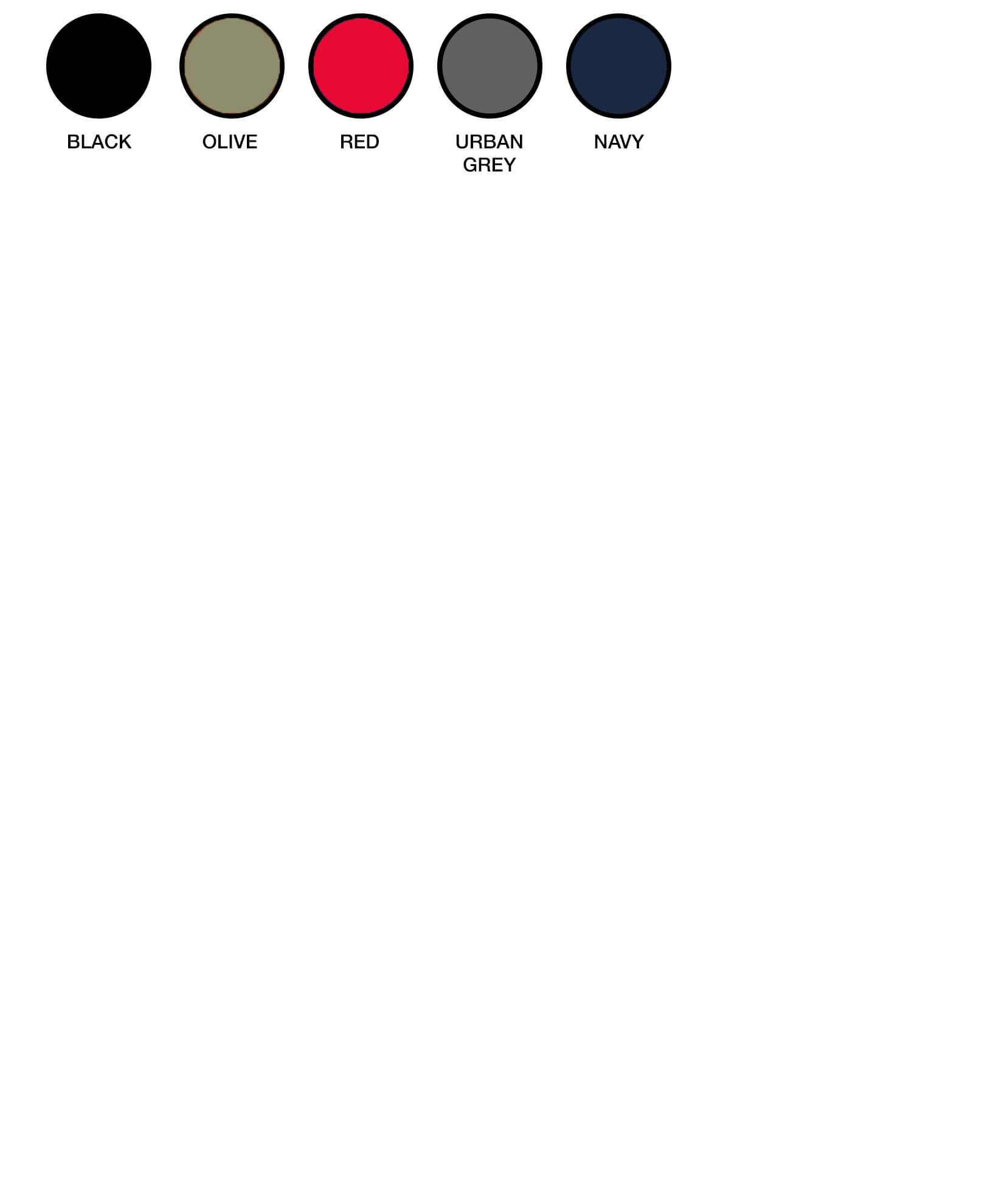 U20608RC Colour Chart