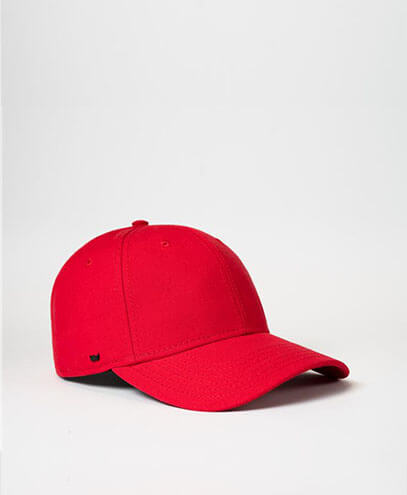 U20608RC Recycled Cotton Baseball Cap - Red