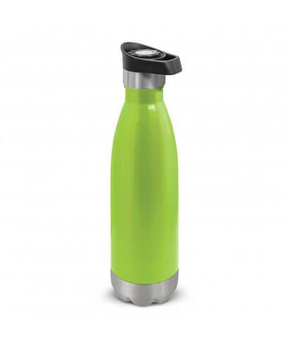 108574 Mirage Vacuum Bottle - Bright Green w/ Push Button Lid
