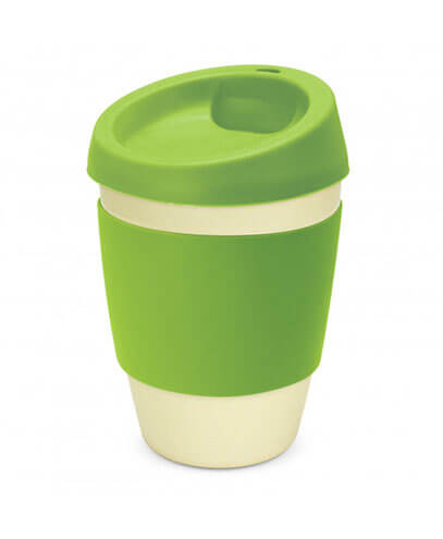 113053 Metro Cup - Bright Green with Bamboo Melamine Cup