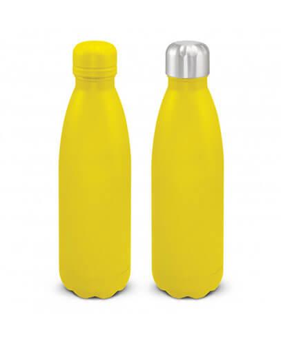 116329 Mirage Powder Coated Vacuum Bottle - Yellow